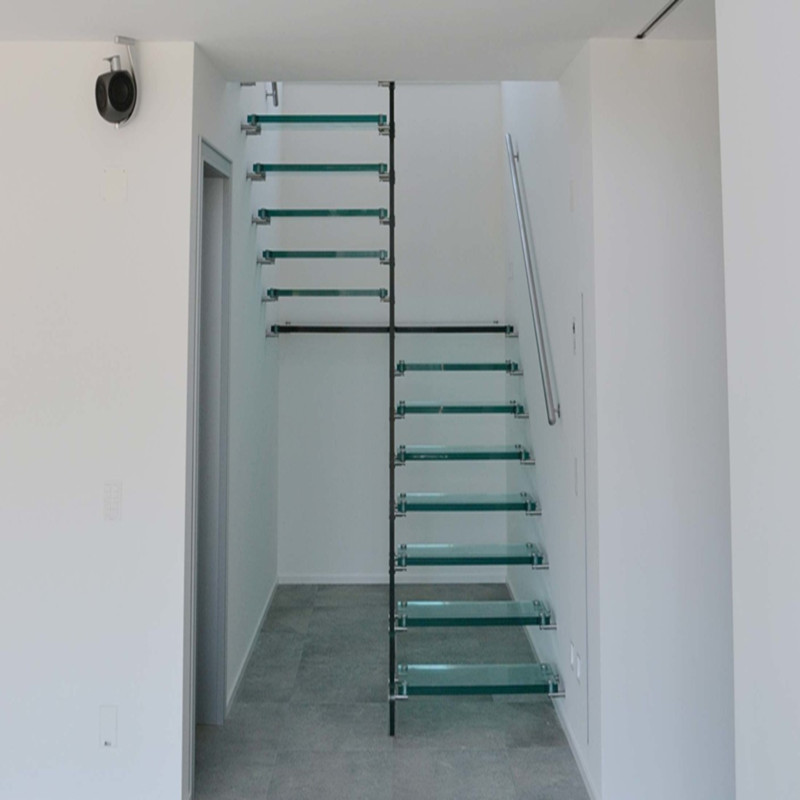 floating staircase/hidden cantilever stairs